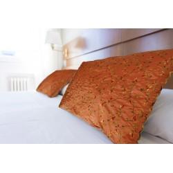 Cuscino (fodera) taffetas cangiante ricamato