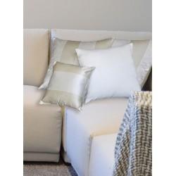 Cuscino taffetas a righe oro/beige