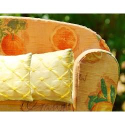 Cuscino taffetas bijoux giallo