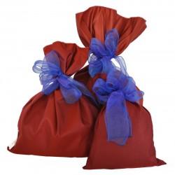 Sacchetti in tessuto rosso