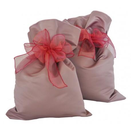 Sacchetto regalo in tessuto rosa