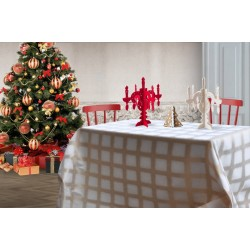 White and gold Focus tablecloth