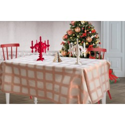 Beige and orange Focus tablecloth