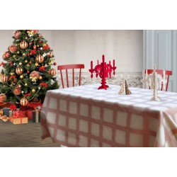 Gold and copper red Focus tablecloth