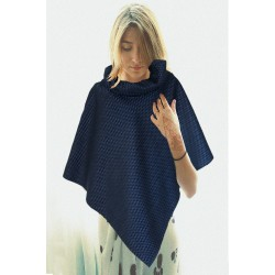 Poncho Boreale blu