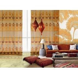 Fiaba brown and orange curtain (Fiaba col.8)