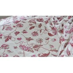 Scampoli in Taffetas bianco con stampa rosa e lilla