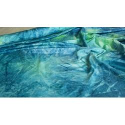 Scampoli in Taffetas maltinto blu e verdeacqua