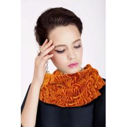 Pashmina arancio in velluto effetto moirè