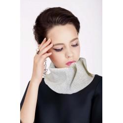 Scalda collo in lana bianco