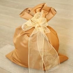 Sacchetto regalo in raso pesante terracotta