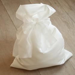 Sacchetto regalo in raso pesante bianco ottico